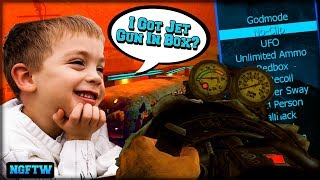 Black Ops 2 Zombies JET GUN MOD MENU TROLLING! (ROUND 100 GLITCH!) XBOX ONE!