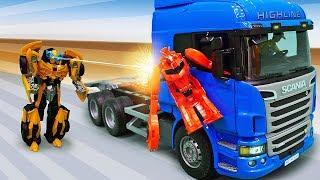Download Трансформеры в видео для детей - Бамблби и грузовик Десептиконов! Video