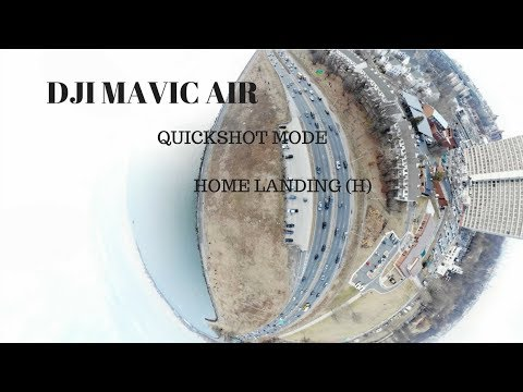 DJI Mavic Air 1st Fly Easy Breezy - Quickshot mode - Home landing !!