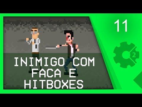 NOVO INIMIGO E HITBOXES DOS INIMIGOS - Curso Beat'em Up / Brawler Aula 11 [CONSTRUCT 2]