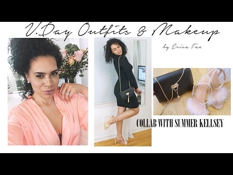 Valentine's Day Outfits & Makeup I Collab w. Summer Kellsey