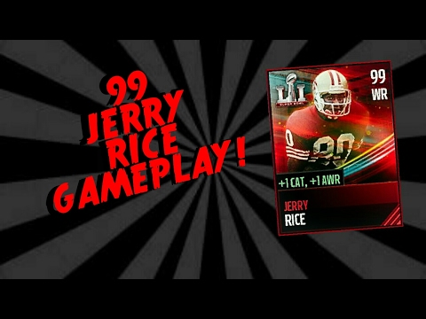 99 OVERALL JERRY RICE GAMEPLAY! Madden Mobile 17