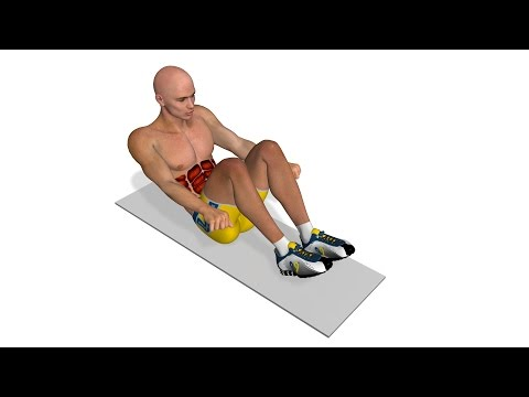 Get abs: Crunch with knees to the chest