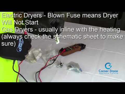 Dryer Not Heating? or Dryer Not Starting How to Test Thermal Fuse - Gas & Electric Dryers