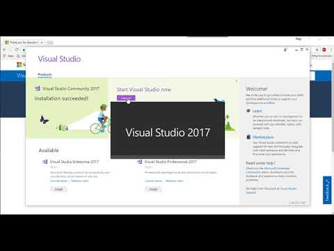 Visual Studio 2017 Community Install and first Console App