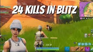 24 Kills in Blitz (Fortnite Battle Royale)