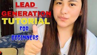 HOW TO DO LEAD GENERATION   HOMEBASED JOB PH