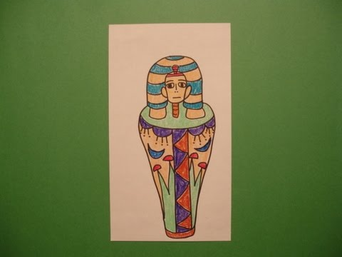 Let's Draw a Mummy Case!