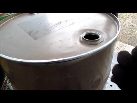 Cutting 55 gal  drum (to make it shorter )