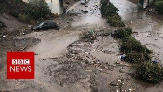 Californian mudslides: