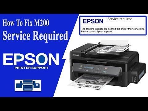 Epson M200 Resetter | Service required Error | All Lights Blinking Solution