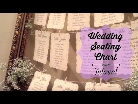 Wedding Seating Chart Tutorial