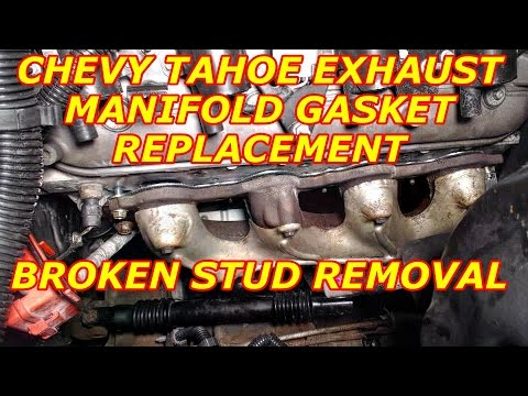 CHEVY TAHOE EXHAUST MANIFOLD REMOVAL & BROKEN STUD REMOVAL
