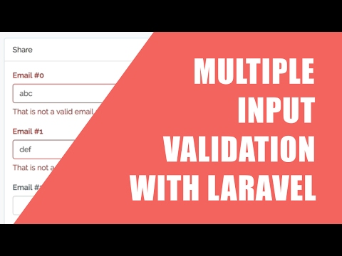 Snippet: Multiple Input Validation in Laravel