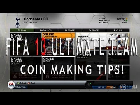 Tips for FIFA 13 Ultimate Team - How to make alot of coins at the start!!