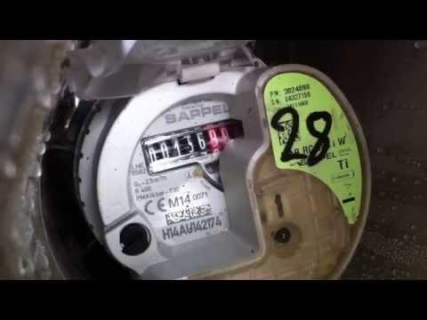 Irish water meter in use