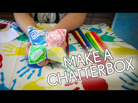 How To Make a Chatterbox Out of Paper (Fortune Teller)