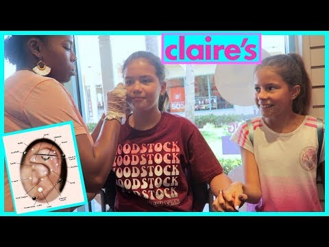 GETTING MY EARS PIERCED FOR THE SECOND TIME AT CLAIRE'S
