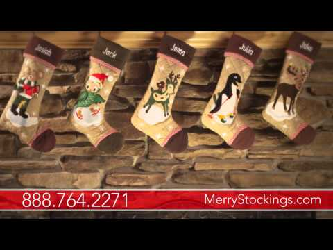 Cabin Series Personalized Christmas Stockings from MerryStockings