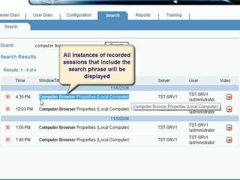 ObserveIT Free-Text Search Demo - 640X480