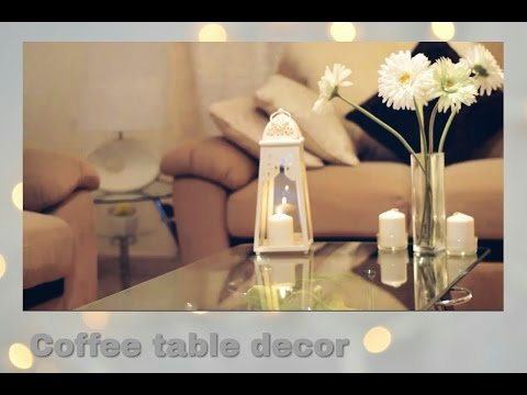 Coffee table decor | 4 ideas