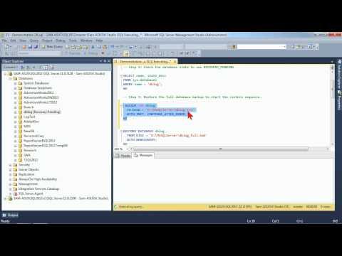 Administering Microsoft SQL Server 2012: Restoring Databases