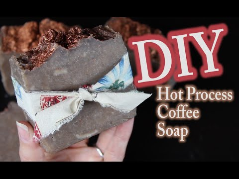 DIY Hot Process Soap Making - How To Make Coffee Hot Process Soap