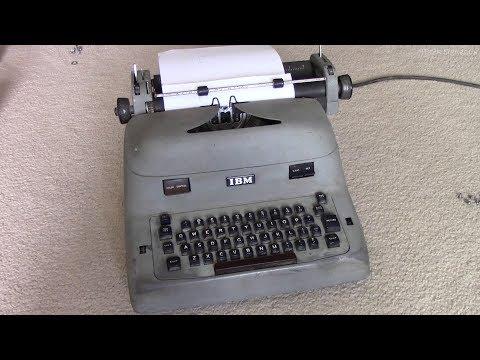 1953 IBM Model A Electric Typewriter Repair Part 1