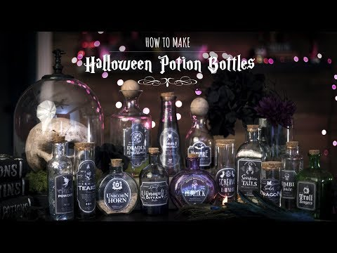 How to Make Halloween Potions Bottles