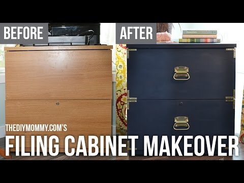 Campaign Dresser Inspired Filing Cabinet Makeover with FAT Paint Chalk Style Paint
