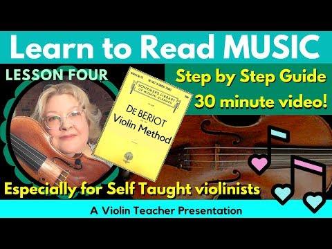 De Bériot Violin Method   Anatomy of the Bow Stroke   Learn to Read Violin Notes, Pt 4