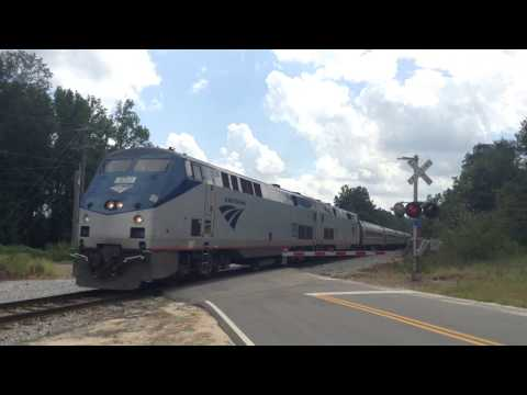 Amtrak P092 heads through West Columbia, SC 10 hours late
