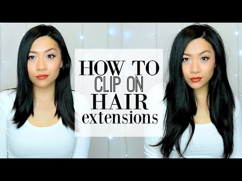 How To Clip On Hair Extensions on Short Hair | Best Hair Extensions for Asian Hair!- IRRESISTIBLE ME