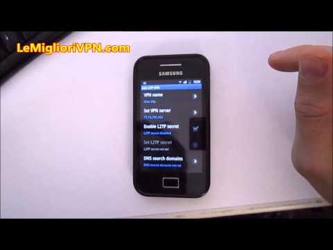 Come configurare una VPN su Android 2.x o 3.x manualmente