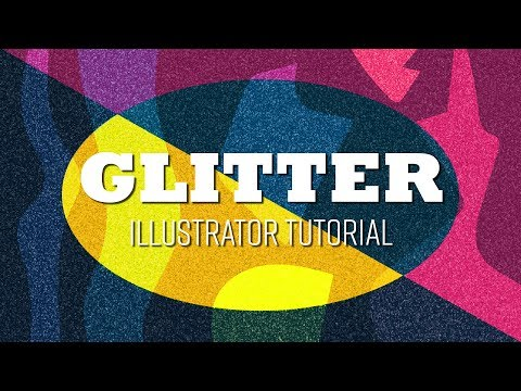 How to create Glitter in Illustrator (With German and English subtitles)