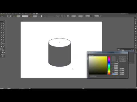 Adobe Illustrator CS6 -make a cylinder