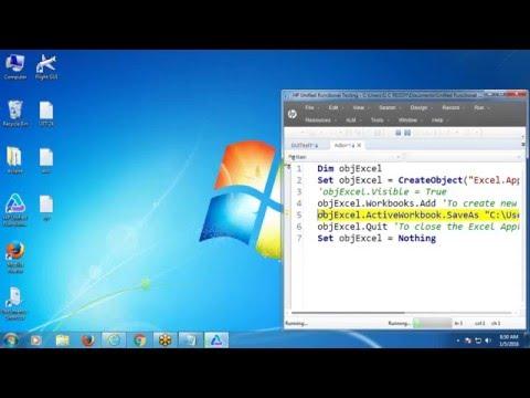 VBScript Excel Object Model