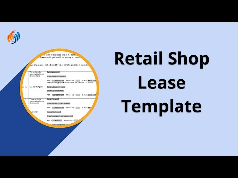 How to Complete a Retail Shop Lease template