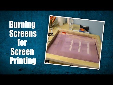 Making Screen Printing Stencil