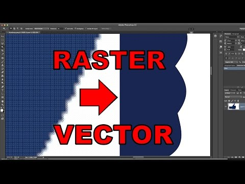 How to turn a Raster into a Vector in Photoshop!
