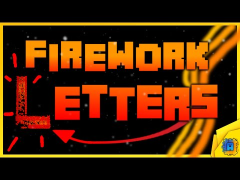 How to make Firework Letters and Numbers in Minecraft