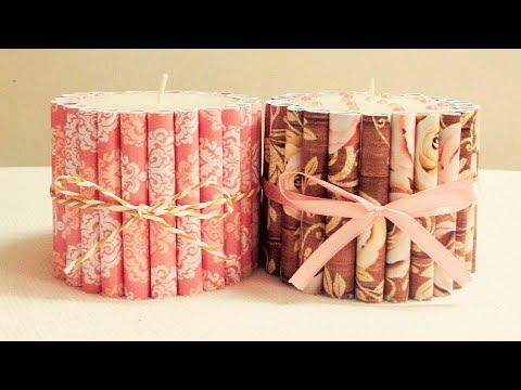 DIY Christmas Candles Ideas