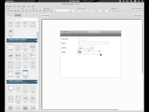GUI Prototype dengan Pencil