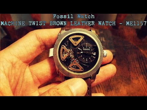 Fossil Watch – Machine Twist Brown Leather Watch ME1157