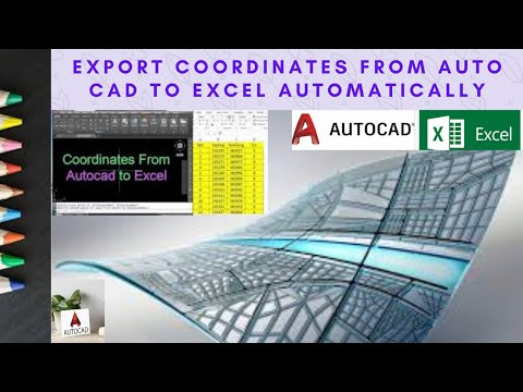 Automatic Coordinates Computation with Excel File in AutoCAD