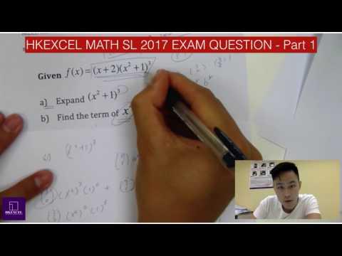 IB Math SL 2017 Tip question l HKExcel