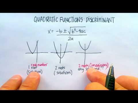 Quadratic Functions: Discriminant (How Many Roots?)