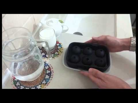 How to make Ice Balls?  SUMPRI Sphere and Cube Silicone ice mold