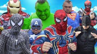 Hulk VS Spider-Man VS Batman VS Black Spider-Man VS Iron Man VS Superman VS Captain America