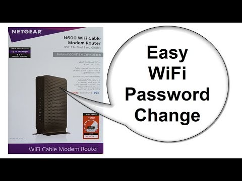 NETGEAR modem router Reset - N600 C3700 - How to Change Wifi Password - Beginners
